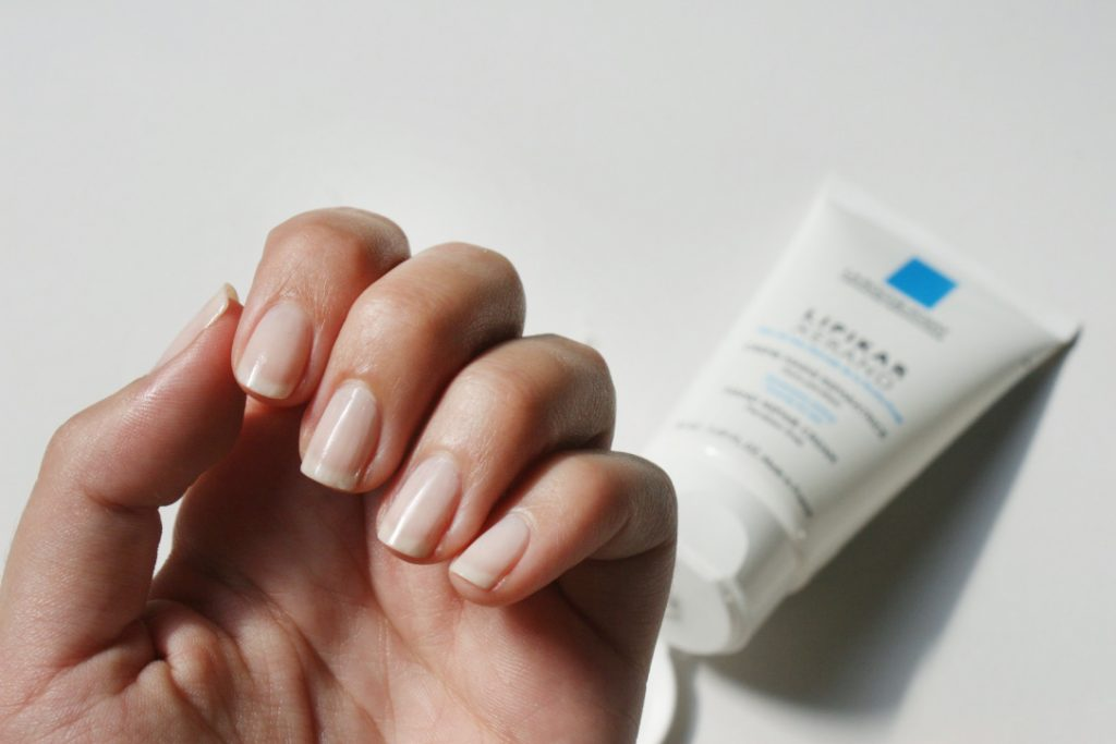 nails_natural_larocheposay_handcream uñas